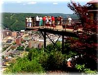 Johnstown Incline Plane observation deck view