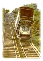 photo of the old car on the Johnstown PA Incline Plane