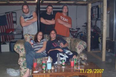 This is the group u can see on black jacket and in back on white wall is orbs.