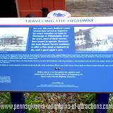 A history sign of the Lincoln Highway located at Jean Bonnet Tavern