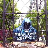 photo of the sign for the Phantom's Revenge ride