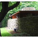 back view of Frank Lloyd Wright's Kentuck Knob