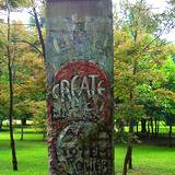 Sculpture of piece of the Berlin Wall at Frank Lloyd Wright's Kentuck Knob