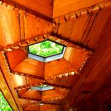View of skylights at  Lloyd Wright's Kentuck Knob