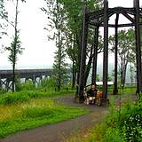 photo of a beautiful sitting area at Kinzua Bridge State Park