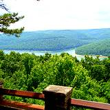 photo of the view from overlook of Kinzua Bridge State Park