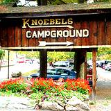 Entrance sign at Knoebels Campgrounds