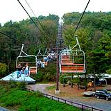 convenient chairlift ride through Knoebels Amusement Park
