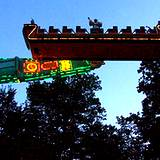 amusement ride at Knoebels Park