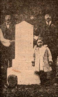 1910 picture when monument was erected of Lost Children of the Alleghenies