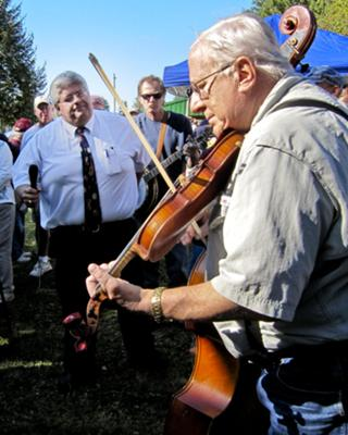 One of the many highlights of the annual Lyons Fiddle Festival are the music circles. Hundreds of musicians gather to form music circles and celebrate the joy of their music and fellowship.