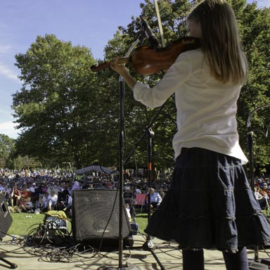The fiddle contest is the highlight of the festival