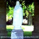 Mount Assisi garden statue of St. Maria Goretti