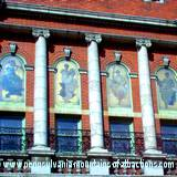 photo of the outside of historic Altoona Mishler Theatre showing stained glass windows