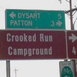 A picture of road sign at Prince Gallitzin State Park