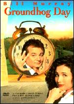 Ad for Groundhog Day movie with Bill Murry
