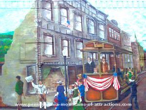 ghost sighting on beautiful mural