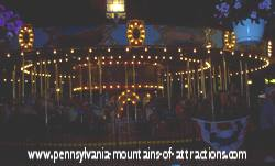 DelGrosso Parks antique carousel ride at night