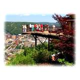 View of observation deck at the top of Johnstown PA Incline Plane