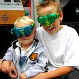Penn State Festival two boys with bug mask