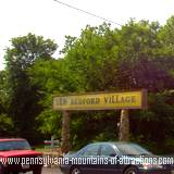 Sign at the entrance to the Old Bedford Village