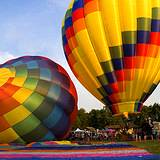 big, beautiful, colorful hot air balloons