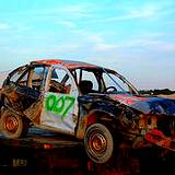 a photo of a demolition car at the Cambria County Fair