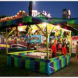 A photo of midway game tent at Clearfield County Fair