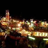 The carnival rides at night at a PA Fair