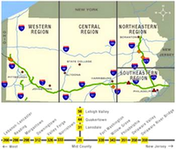 PA Turnpike Map