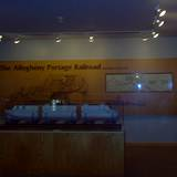 photo of the wooden plague on display inside the Allegheny Railroad Museum