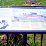 photo of history and photos on the deck at the Allegheny Portage Railroad Museum