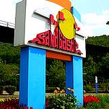 photo of entrance sign to Sandcastle Water Park