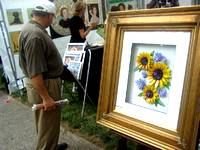 beautiful tile art on for sale at the Central Pennsylvania Festival of the Arts