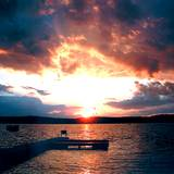 Photo of beautiful sunset over a Pennsylvania Lake