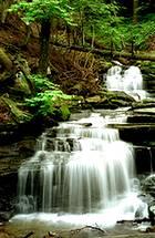 Rainbow Falls at Trough Creek State Park