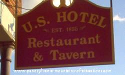 sign outside U.S. Hotel