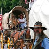 photo of people on the Appalachian Wagon Train caravan