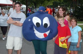 Our mascot, Newberry the Blueberry