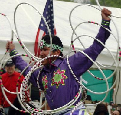 Mikmaq Hoop Dancer Matthew White Eagle Clair