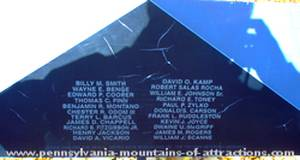 photo of a small plaque of Viet Nam Casualties names added since 1999