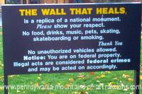 Entrance sign to visit The Wall-Viet Nam War Memorial