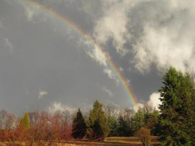 Rainbow on the mountian