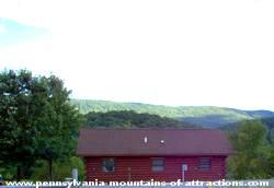 View of Canoe Creek rental cabin