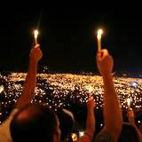 Candle light gathering at