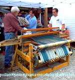 handmade craft rugs made the old fashioned way, on a loom at Hartslog Day festival
