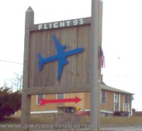 photo of a sign to Flight 93 National Memorial on Historic Lincoln Highway