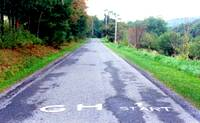 photo of a view of the starting point at Gravity Hill