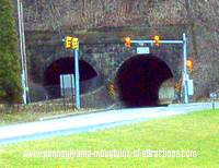 photo of the haunted tunnel at the Horseshoe Curve