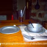 photo of a typical place setting at Jean Bonnet Tavern